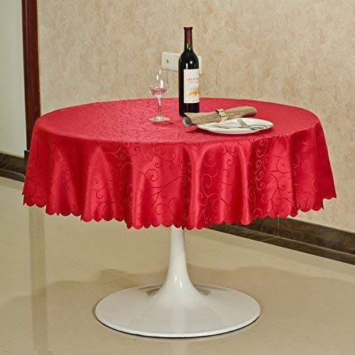 HTL Tisch Tischdecken, Home Tischdecken, runder Tisch Quadratische Tischdecken, Tischdecken Rechteckige/runde Hotel-Tischdecke Europäische Tischdecke/Konferenztischdecke/Kaffee mit 3 Farben für