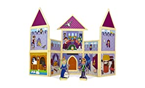 Build & Imagine presents Kid's Creativity Castle with magnetic building set, (SW006, multi-colour)