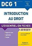 DCG 1 - Introduction au droit - 2018/2019 - L'essentiel en fiches