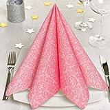 GRUBly Servietten ROSA, PINK | Stoffähnlich [50 Stück] | Hochwertige rosa Servietten, Tischdekoration für Hochzeit, Geburtstag, Feiern, Taufe, Kommunion | 40x40cm | AIRLAID QUALITÄT