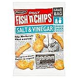 ( 15 Pack ) Burton's Daily Fish 'n' Chips Lashings of Salt & Vinegar Flavour Baked Snack Biscuits Grab Bag 40g
