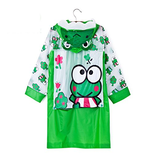 LFF.FF Cute Cartoon Children's Baby Poncho Outdoor With Inflatable Cap For Boys And Girls Raincoat,E,XXL