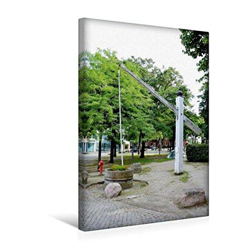 Premium Textil-Leinwand 30 cm x 45 cm hoch, Hungerbrunnen - Achim | Wandbild, Bild auf Keilrahmen, Fertigbild auf echter Leinwand, Leinwanddruck (CALVENDO Orte)