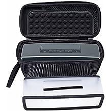 Poschell - Funda para altavoz, de viaje, blanda, con malla, para altavoz con Bluetooth Bose SoundLink Mini I y Mini II