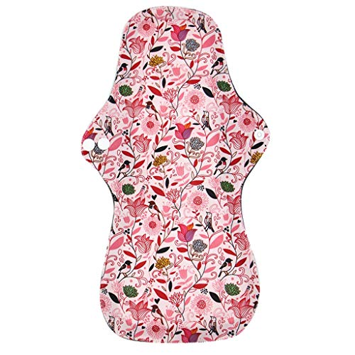 Serria® 1 Stück 32,5 cm Slipeinlagen Waschbar aus Bambusfaser, Waschbare Stoffbinden, Wiederverwendbare Binden, Damenbinde Menstruations Damenbinde Panty Pads über Nacht Slipeinlagen -
