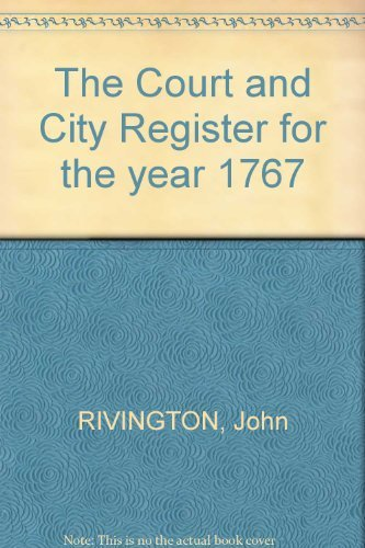 The Court and City Register for the year 1767