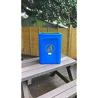 Advancedscape Cesear Titus Wall or Post Mountable Open Top Litter/Waste Bin - 30ltr in BRIGHT BLUE