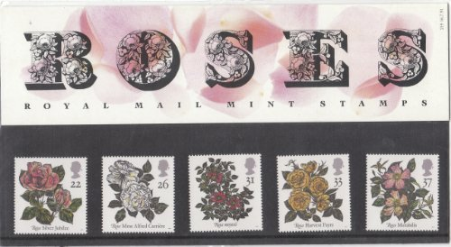 1991 Royal Mail Roses Stamps Presentation Pack, no. 219 by Royal (Wild Dog Rose)