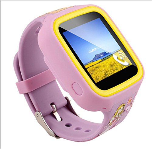 Preisvergleich Produktbild Joyeer Smart Watch Kinder Sim Karte GPS Tracker Anti-verloren Zwei-Wege-Anruf SOS Notfall Wecker Kinder Touchscreen Smartwatch für Android iPhone , pink