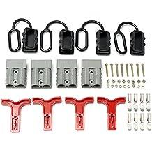 4pcs 12–24V 50Amp Polvo Tapa Para Anderson Estilo enchufe conectores Set