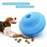 KidsHobby hundespielball leckerli Interaktives Hundespielzeug Ball Welpenspielzeug Befüllbarer Snackball Zahnpflege und Kauspaß