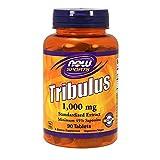 Now Foods I Tribulus 1000mg I Standardisierter Extrakt I Vegetarisch I Vegan I 90 Tabletten