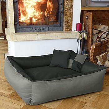 BedDog MAX QUATTRO 2en1, anthracite/gris, XXL env. 120x85 cm,Panier corbeille, lit pour chien, coussin de chien