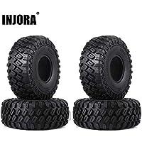 INJORA 1,9 Neumáticos Neumáticos de Caucho de Oruga para 1:10 RC Rock