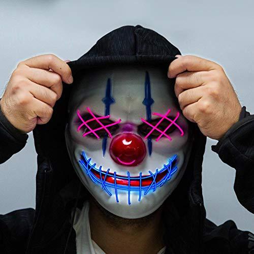 Herren Beängstigend Kostüm - LED Halloween Masken Leuchten Maske Für Festival Party Halloween Kostüme Herren Leuchten Beängstigend Tod Schädel Maske Leuchten Leuchtende Masken Für Festival Parteien Kostüm