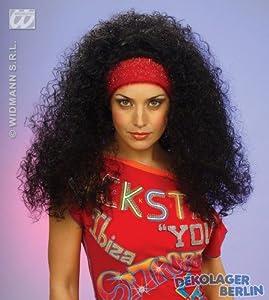 widmann-wdm6318s disfraz Adulto mujer, Negro Rubio Marrón Rojo, wdm6318s