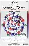 ornés de piquants Créations Papier pour Quilling Kit spirale roses-burgundy, rouge et violet