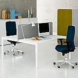 NOVA 2er Gruppenarbeitsplatz Weiß Team Bench Schreibtisch Doppel-Arbeitsplatz