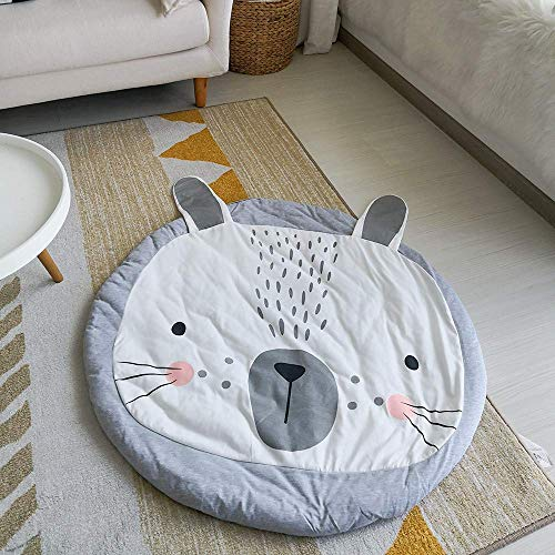 Iusun Home Accessories Soft Mat, Kids Carpet Super Soft Cotton Luxury Plush Baby Crawling Rugs Kids Play Mat for Living Room Bedroom Decor (Gray)