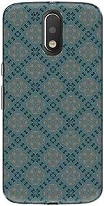 The Racoon Lean printed designer hard back mobile phone case cover for Motorola Moto G Play 4th Gen. (Blue Tile)