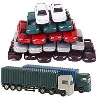 Homyl 52 Piezas Modelo Camión Contenedor 1:150 N Escala Juguete