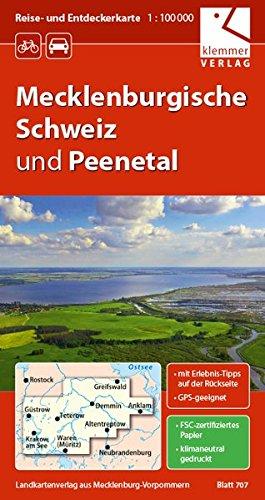 Reise- und Entdeckerkarte Mecklenburgische Schweiz und Peenetal: Maßstab 1:100.000, GPS-geeignet, Erlebnis-Tipps auf der Rückseite