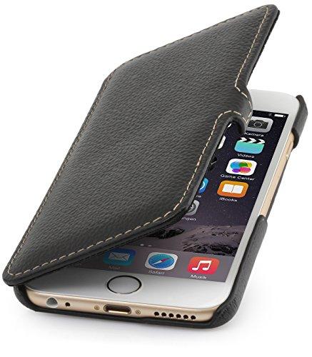 "StilGut Book Type Case mit Standfunktion, Hülle aus Leder für Apple iPhone 6 Plus 5.5"", cognac vintage Schwarz"
