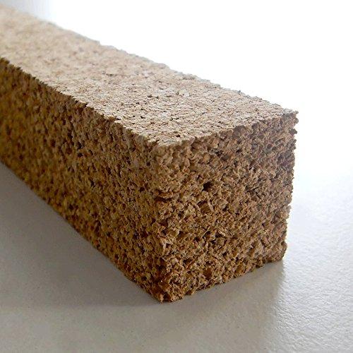 Korkstreifen natur 22 x 22 x 900 mm // für Modelbau, Dehnungsfugen, Basteln uvm. (10 Stk.)
