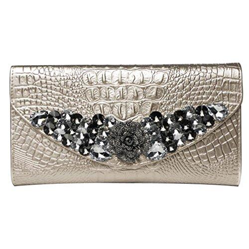 Leder Geprägte Taschen Handtaschen Damen Clutch Umhängetasche,E F