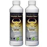 GOLDEN BULL® READYMIX FÜR LEDER Doppelpack, Lederreiniger, Lederpflege Leder Pflege Ökologisch Bio Auto (2-in-1) 2 x 500ml (1L), öko-zertifiziert