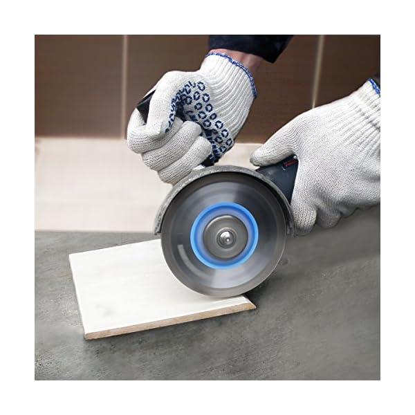 51S7GucfFPL. SS600  - S&R Disco Diamante 125 mm para corte de Porcelanico, Cerámica dura, Azulejos, Mármol, Granito, Piedra caliza y otros materiales duros. Calidad Profesional