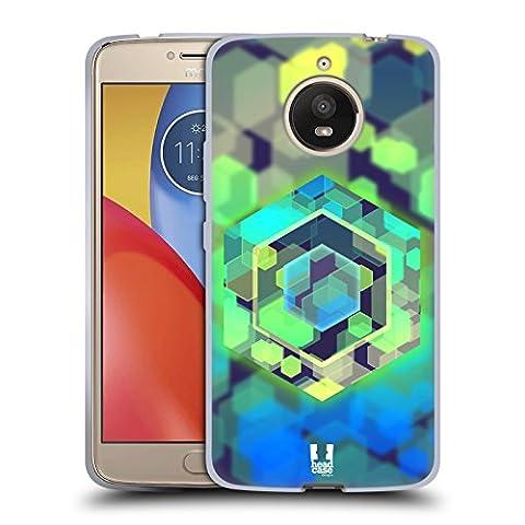 Head Case Designs Hexagon Graphische Bokeh Soft Gel Hülle für Motorola Moto E4 Plus