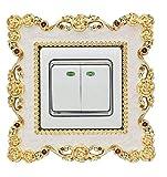 NaXinF Lichtschalter Aufkleber Cover Socket Switch Dekorative Wandaufkleber Harz Schalter