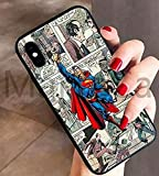 Art-design Coque iPhone XS Max Superman Marvel Super Heros Silicone Souple