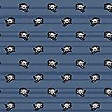 0,5m Jersey Piraten-Flagge Totenkopf 5% Elasthan 95%