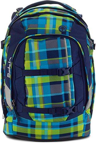 Satch Schulrucksack Pack Breezer 993 multikaro blau-grün