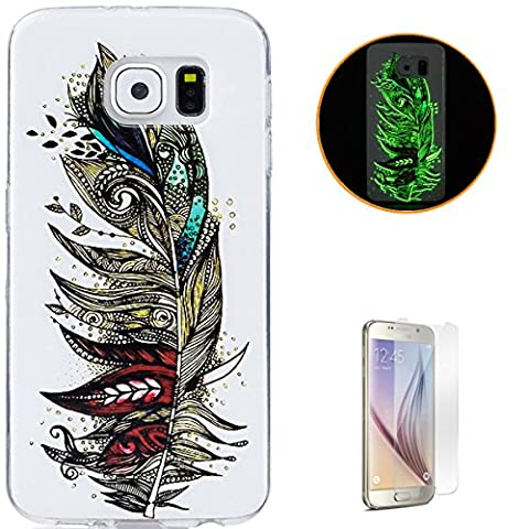 KaseHom Coque Samsung Galaxy S6 Couvrir Effet lumineux Très mince