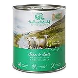 Müllers Naturhof | Lamm und Lachs | 6 x 800 g | Nassfutter für alle Hunderassen | getreidefrei und glutenfrei | mit Gartengemüse und Wiesenkräutern | naturnahe Rezeptur mit 65% Fleisch und Fisch