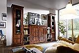 MASSIVMOEBEL24.DE Kolonial Wohnwand Akazie Massiv Holz Oxford #600