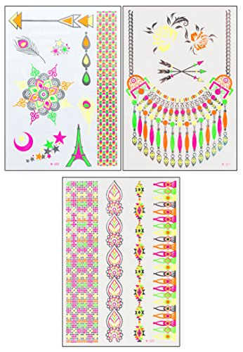 Rainbow in Paris Set de POSH TATTOO® ||| tatouages temporaires | Metallic Tattoo | Flash Tattoos | Gold Tattoos |
