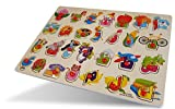Das arabische Alphabet (Alifba) als Holzpuzzle für Kinder (Lernspiel) Puzzel Holzpuzzle Das arabische Alif ba als Steckpuzzle für Kinder ab 3 Jahren Alif ba ta tha lernen Arabische Sprache für Kinder Holz Puzzle Lernspielzeug