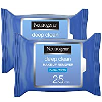 Neutrogena Deep Clean Makeup Remover, Wipes 25's (Pack of 2)