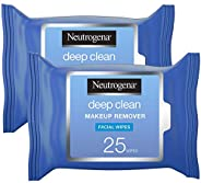 Neutrogena Deep Clean Makeup Remover, Wipes 25's (Pack o