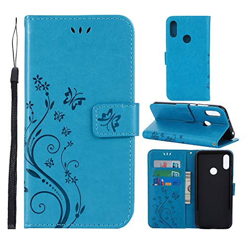 CMID Huawei Y6 2019/Huawei Y6 Pro 2019/Honor 8A Hülle, PU Leder Brieftasche Handytasche Flip Bookcase Schutzhülle Cover [Ständer][Handschlaufe] für Huawei Y6 2019 (6.09