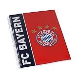 FC Bayern München Collegeblock / Notizblock / Schreibheft DIN A4 FCB - plus gradis Aufkleber forever München
