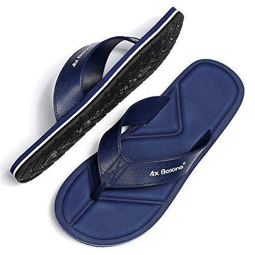 AX BOXING Infradito Uomo Donna Sandali Estivi Pantofole Ciabatte per Spiaggia e Piscina Morbido Luce Confortevole Antiscivolo Suola in Gomma,Blu(At9812-blu),44 EU