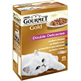 Purina Gourmet Gold Cat Food Double Delicacies, 12 x 85 g - Pack of 8