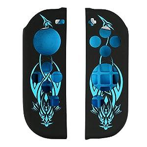 Samoleus Switch Silikon Hülle Tasche für Nintendo Switch Konsole und Joy-Con Kontrolleur, Switch Anti-Rutsch-Cover Skins Anti-Rutsch-Schutzhülle (Blau)