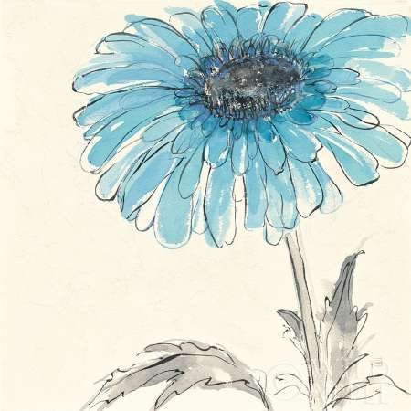 Gerbera bleu II par Paschke, CHRIS – Fine Art Print Disponible sur