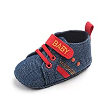 Amaliy Unisex Newborn Baby Shoes Infant Girls Boys Trainers Casual Sneakers (6-12 Months, Blue)